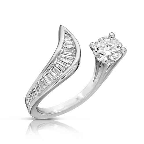 Unique Special Diamond Cut Spiral Ring