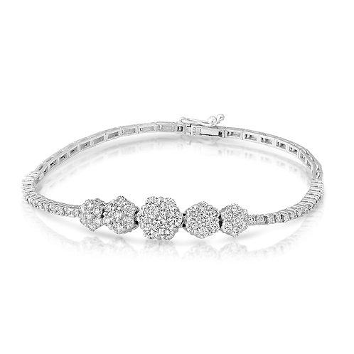 Flowery Diamond Bracelet