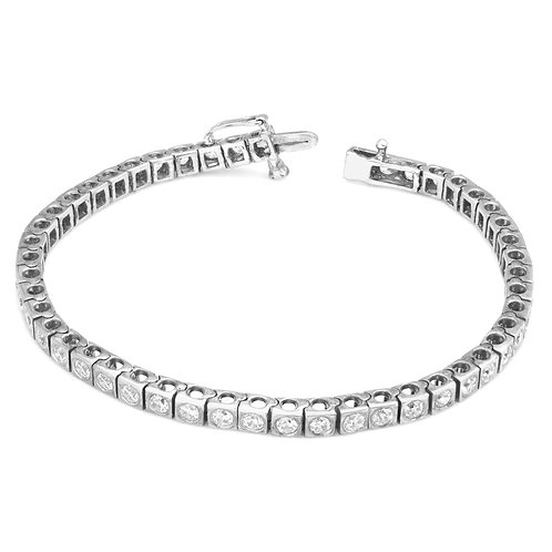 Modern Square Border Diamond Tennis Bracelet