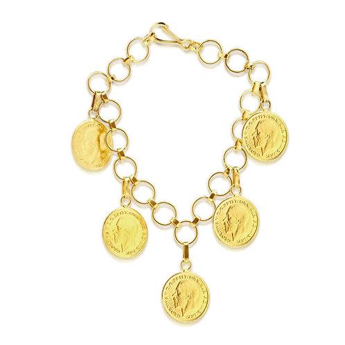 Delicate 21K Gold Lera Bracelet