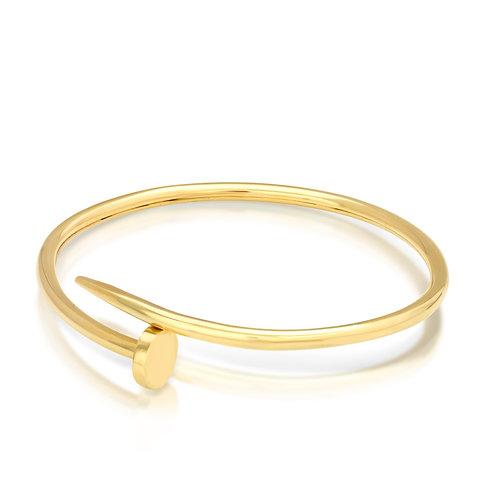 14K Golden Nail Plain Bracelet