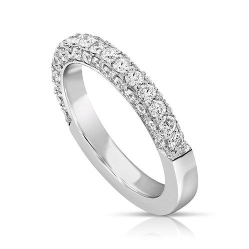Half Diamond Inlaid Ring