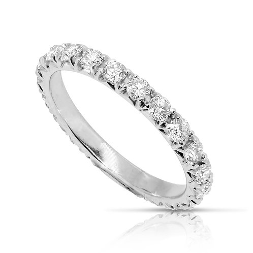 Diamond Eternity French Cut Engagement Band