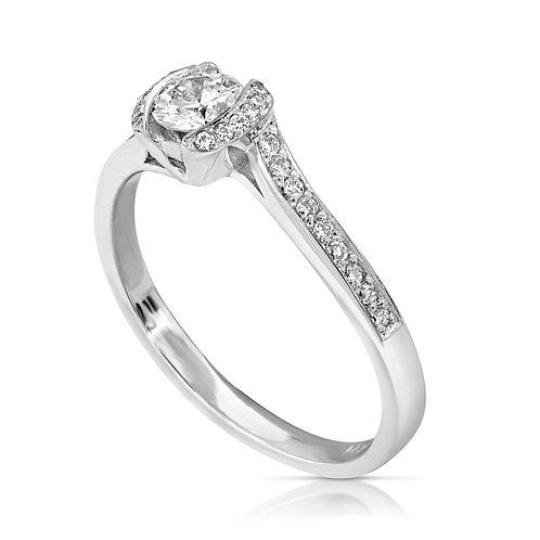 Walls Hold Diamond Inlaid Ring