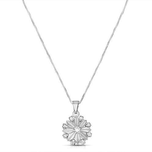 Upgraded Diamond Fulla Flower Pendant