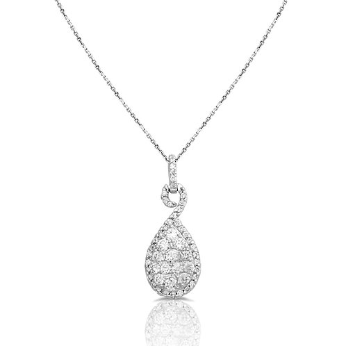 Soft Neat Drop Diamond Pendant
