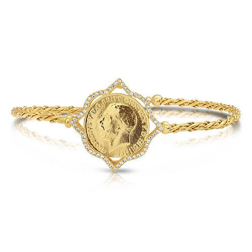 Lera Bracelet With CZ Border