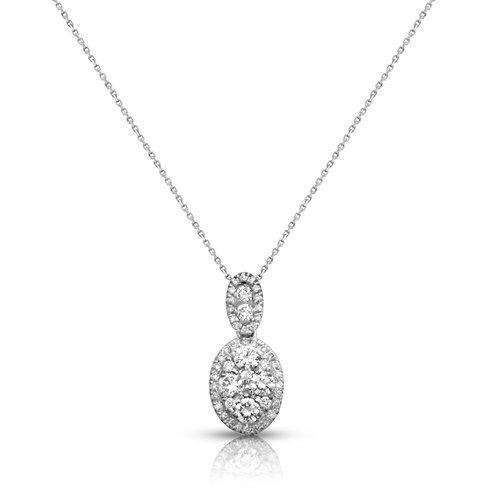 Soft Elegant Ellipse Diamond Pendant
