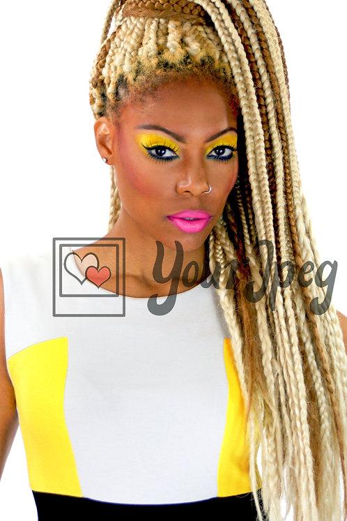 Headshot of beautiful model