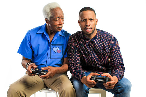 Father and Son Playing Video Games #1