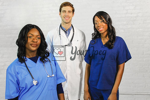 Male Doctor and Female Nurses