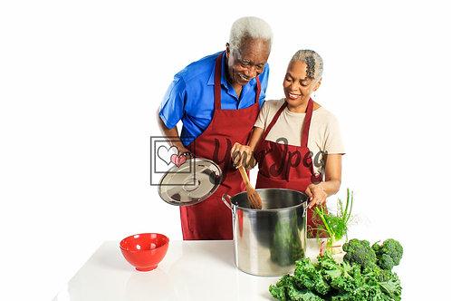 Senior Grandpa and Grandma Cooking #4