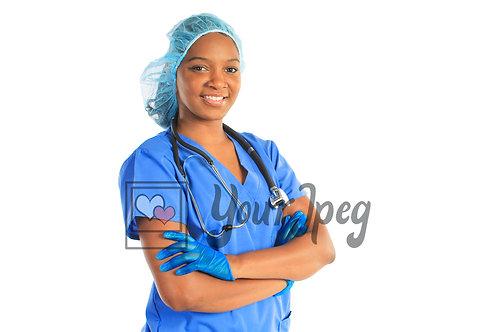 Young female nurse portrait