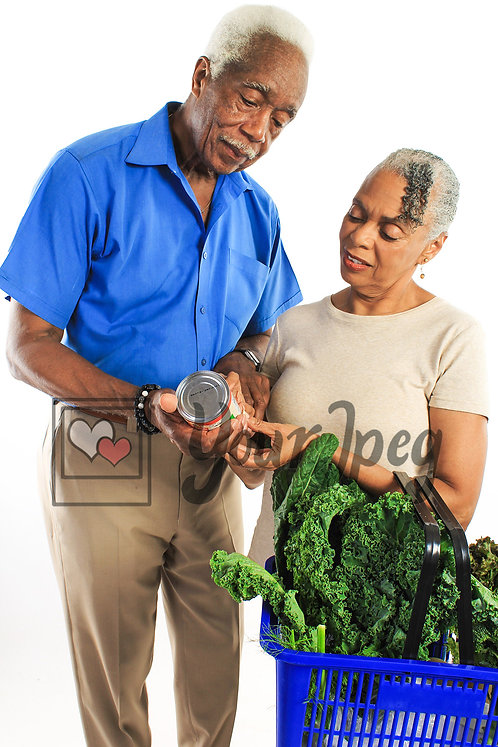 Senior couple with groceries 3
