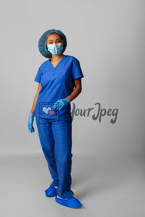 Female Nurse Wearing Protective Gear