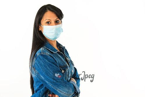 Woman Wearing Mask Angled