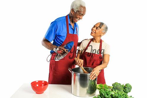 Senior Grandpa and Grandma Cooking #2