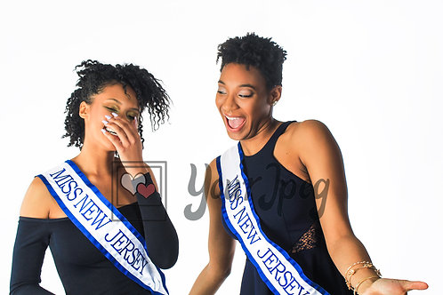 Pageant winners laughing