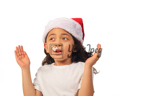 Girl Wearing Christmas Hat While Clapping