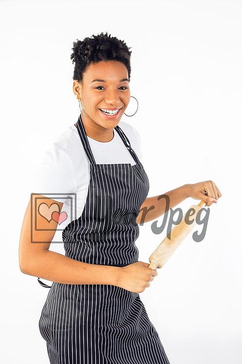 Woman baker smiling