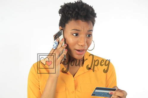 Woman on phone with questions about Cred