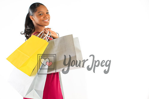 Woman with 3 shopping bags