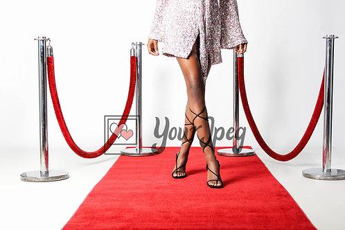 Woman Strutting Down Red Carpet
