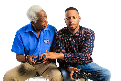 Father and Son Playing Video Games #2