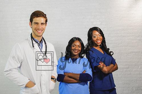 Healthcare workers standing 2