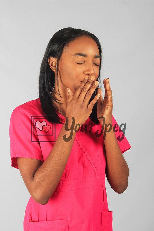 Female Nurse Sneezing
