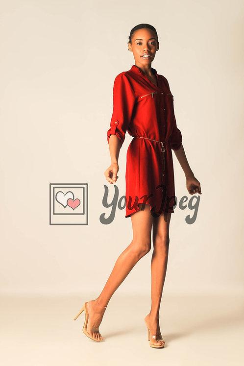 Model Posing With Right Leg Bent