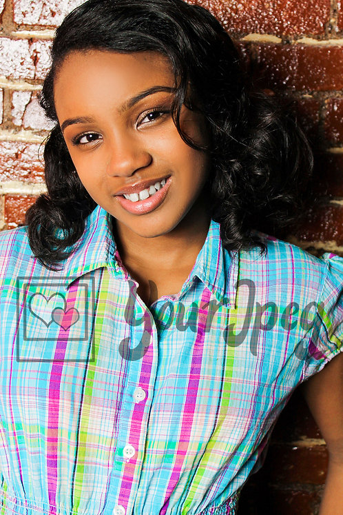 Close up of tween girl