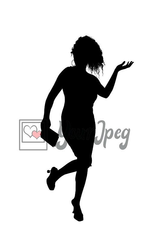 Silhouette woman leg up