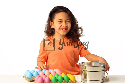 Girl Playing With Easter Eggs #3
