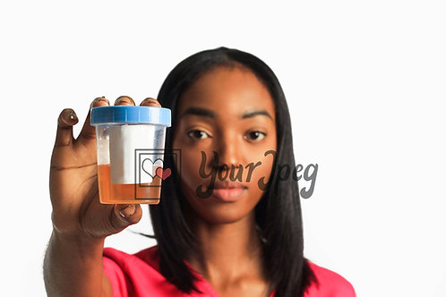 Female Nurse Holding Urine Sample