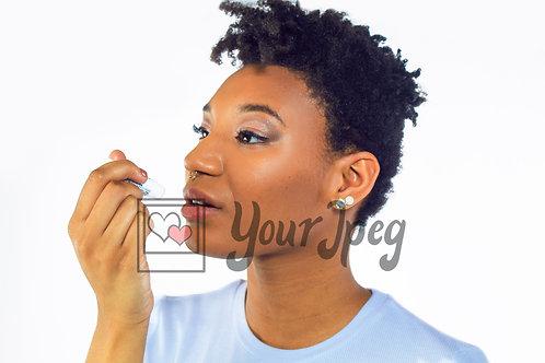 Woman applying lip balm 2