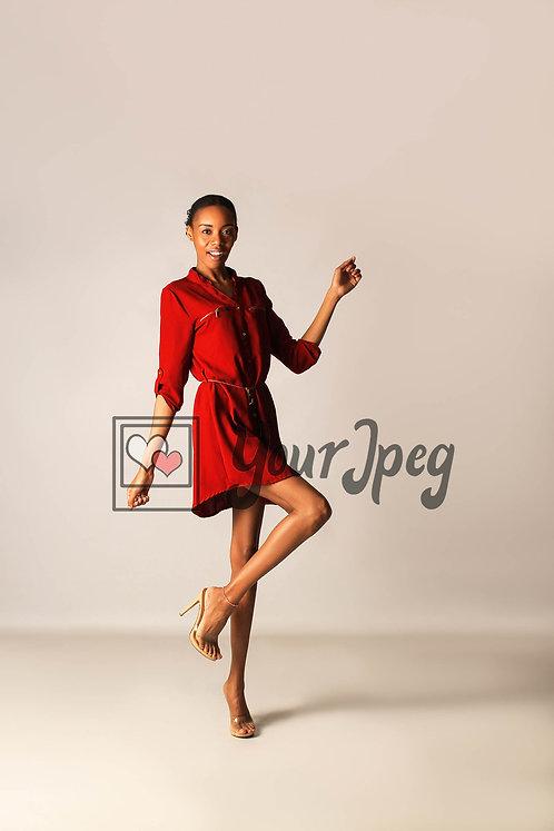 Model Posing With Leg Bent