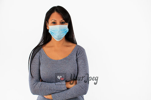 Woman Wearing Mask With Arms Crossed