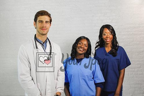 Healthcare workers standing