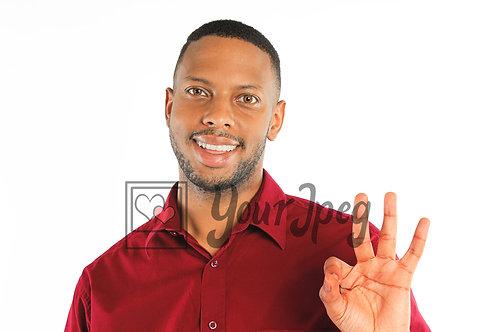 Man doing ok sign