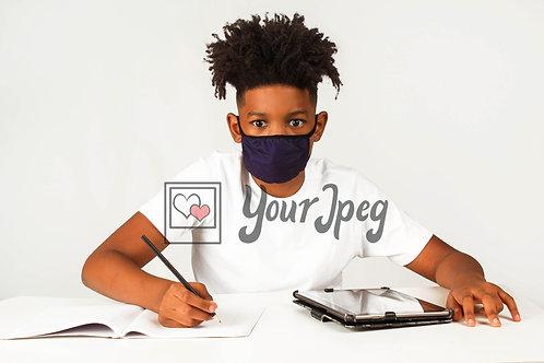 Teen Boy Doing Homework #4