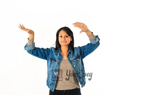 Woman Dancing Using Finger Movements #2