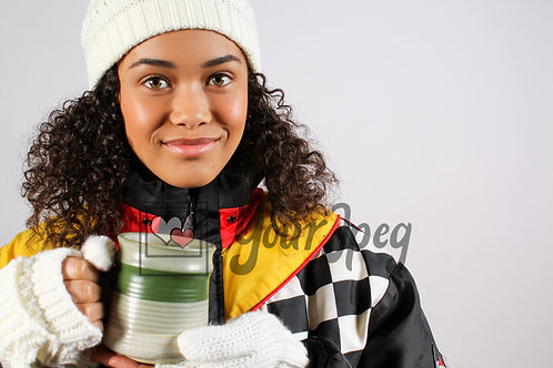 Teen girl holding mug
