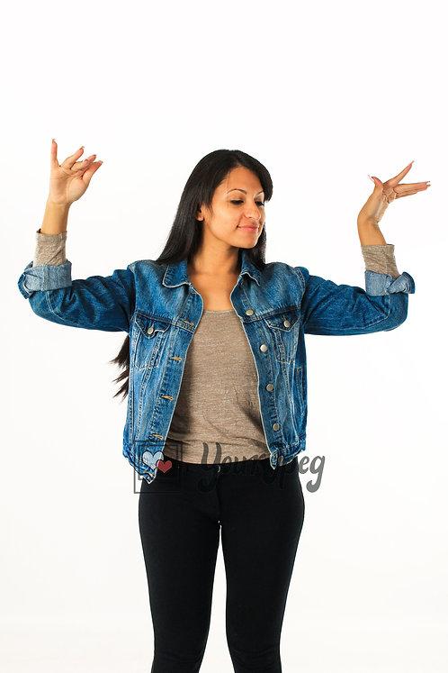 Woman Dancing Using Finger Movements