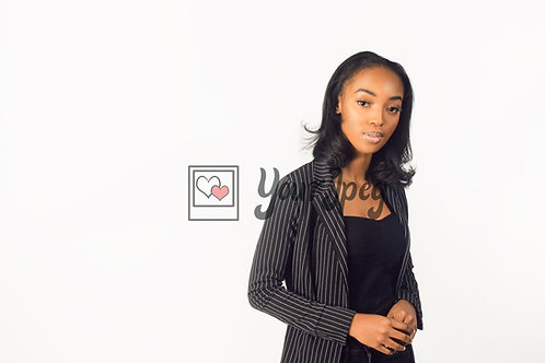 Woman In Suit Looking Forward