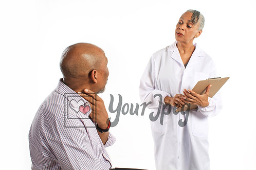 Older female doctor with patient 2