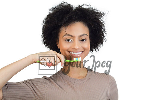 Woman brushing teeth 2