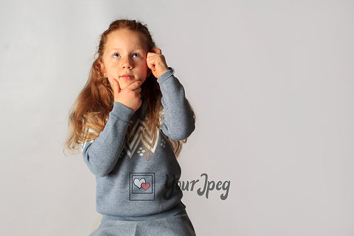 Young Girl With Hand On Head Thinking