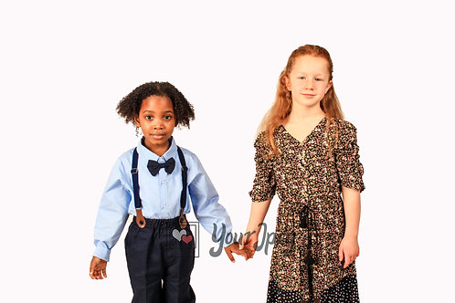 Boy and Girl Holding Hands Modeling