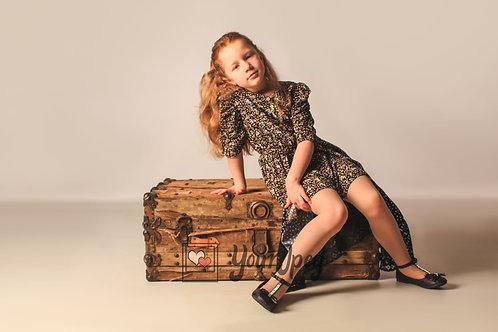 Girl Sitting On Chest Modeling